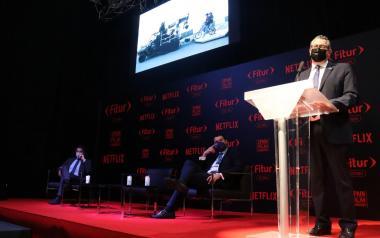 Benidorm, en la presentación en Fitur Screen de la nueva serie de Movistar+, 'Paraíso'