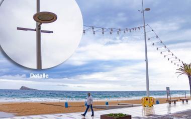 Benidorm implantará en el Paseo de Levante un nuevo prototipo de farola y banco que facilita la instalación de elementos 'smart'