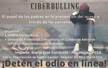 Bienestar Social y la Federación de AMPAs de la comarca organizan un 'webinar' para prevenir el 'ciberbulling'