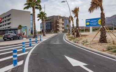 Benidorm abre el nuevo carril de incorporación que conecta el Salt de l'Aigua con la N-332 y la autovía