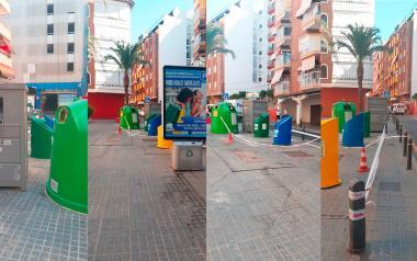 Benidorm refuerza el baldeo de calles y extiende el piloto de contenedores de 'quita y pon' a Ramos Carratalá