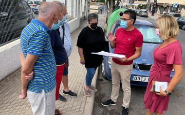 La actuación en la Vía Emilio Ortuño ha sido tratada esta mañana con los vecinos; reordenará urbanísticamente la zona