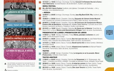 Música, teatro, exposiciones, presentaciones de libros y cine, en la programación de septiembre de Cultura