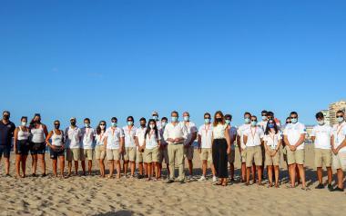 Finalizan su servicio las 58 personas contratadas como informadores de playas