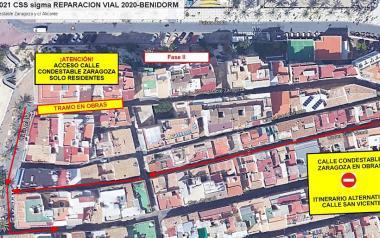 Benidorm inicia el lunes la obra para la nueva vía de plataforma única en Condestable Zaragoza