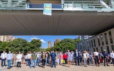 Benidorm conmemora el Día Mundial de la Salud Mental con la lectura de un manifiesto en el Salón de Actos