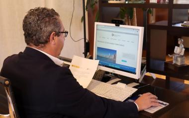 Toni Pérez asiste a la reunión de la Comisión Ejecutiva de la Red DTI
