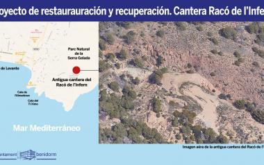 Benidorm remet a Conselleria el projecte per a restaurar i recuperar la pedrera del Racó de l'Infern Racó de l'Infern