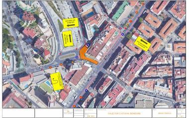 Movilidad reordena el tráfico del entorno de Ricardo Bayona por las obras del nuevo colector de la calle Atocha