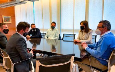 La nova directiva de Jovempa Marina Baixa es reunix amb l'alcalde de Benidorm