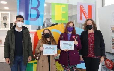 Alina Georgiana y Julia Isabel Téllez, ganadoras de 'Benidorm por la Igualdad',