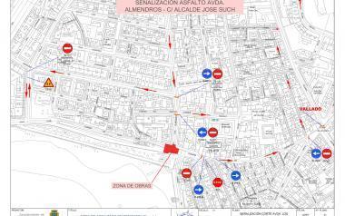 El tram baix d'Ametlers, tancat fins al diumenge per l'asfaltat de Sant Pere i Alcalde José Such