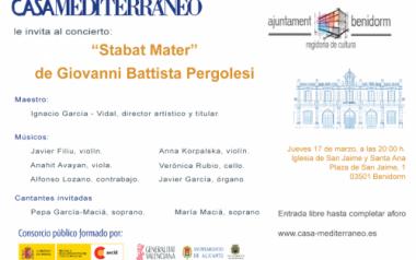 Concierto de música sacra del 'Ensemble Casa Mediterráneo' en la parroquia de San Jaime y Santa Ana