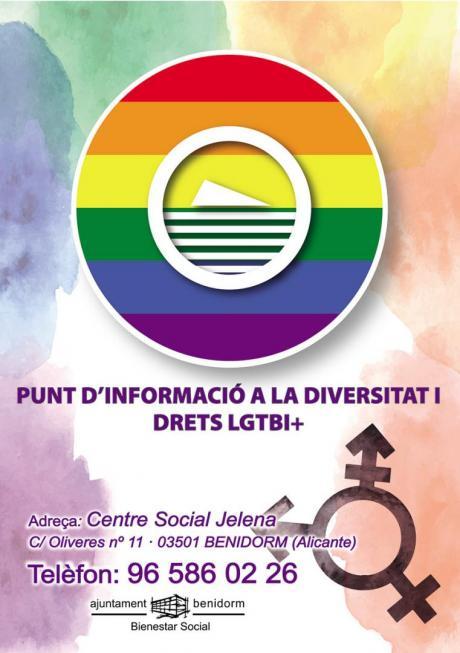 Cartel punto información LGTBI Valenciano