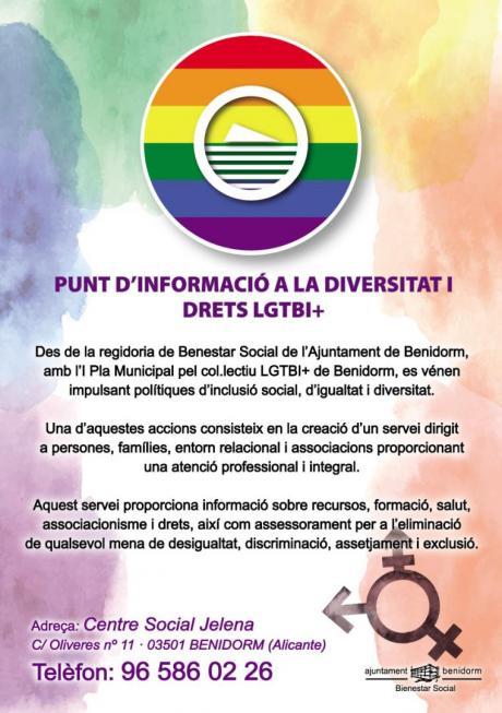 Cuartilla punto información LGTBI Valenciano