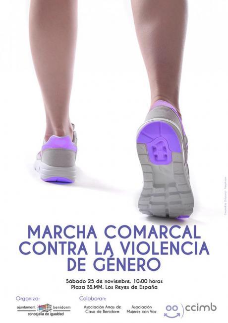 Cartel Marcha Comarcal contra la Violencia de Género