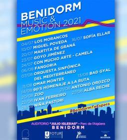 El 'Benidorm Music & Emotion 2021' cierra su programación para este veran...