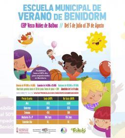 Abierto el plazo de matriculación para la 'Escuela Municipal de Verano de Ben...