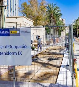 El alumnado de Albañilería del Taller de Empleo Benidorm IX reinicia la mejor...