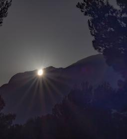 One more year, the Sun sets over Puig Campana on the summer solstice