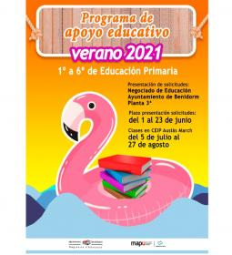 Benidorm launches the 'Summer 2021 educational support program' for Primary E…