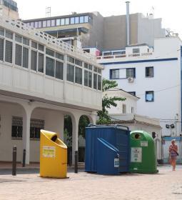 El sistema piloto de contenedores de 'quita y pon' llega a la Plaza del Pinto...