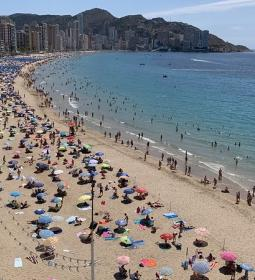 Benidorm, almost in the same figures that in 2019 summer