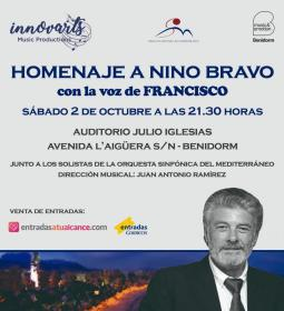 Nino Bravo en la voz de Francisco, la propuesta de la Orquesta Sinfónica del...