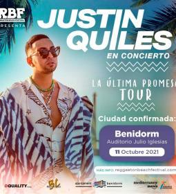 Justin Quiles elige Benidorm para uno de sus cinco únicos conciertos confirma...