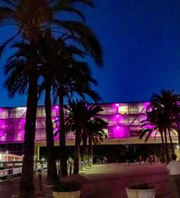 El Castell, El Tossal i Ajuntament, de rosa en suport a la lluita contra el c…