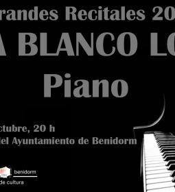 La pianista Aroa Blanco, mañana viernes en el Salón de Actos del Ayuntamiento...