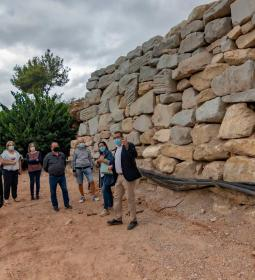 A new riprap from stone already protects Camí Les Coves de l'Horta in Benidor…