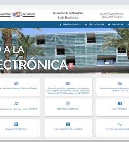 Benidorm increased e-Administration procedures by 15% in 2020